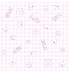 Baby Girl Teddy Pattern vector image vector image