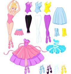 Ballerina dresses vector