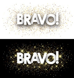 Bravo paper banner vector