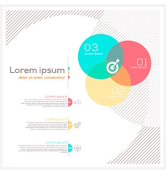 Circle shape abstract design layout vector