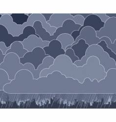 cloudy vector image