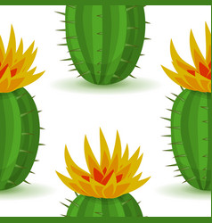 cute cactus with flower vector image