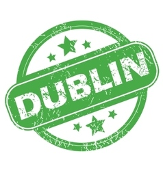 Dublin green stamp vector