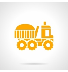 Farming truck yellow glyph style icon vector image vector image