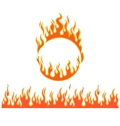 Fire flames of different shapes vector image vector image