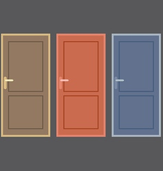 Flat Design Vintage Doors Collection vector image vector image