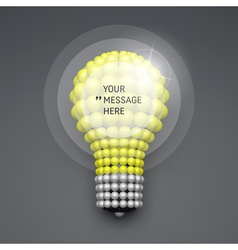 Frame with Place for Text 3d Lightbulb Concept vector image vector image
