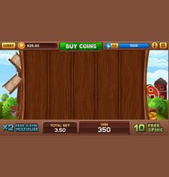 Free games background in farm style vector
