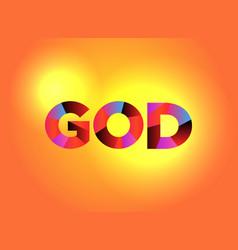 God theme word art vector