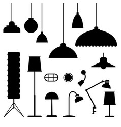 home light silhouettes vector image vector image