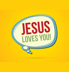 Jesus loves you text in balloons vector