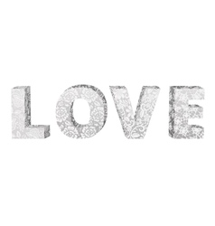 lace word Love vector image vector image