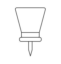 Line pushpin symbol icon design vector