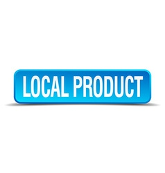 Local product blue 3d realistic square isolated vector