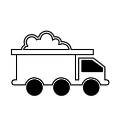 mining truck vehicle isolated icon vector image vector image