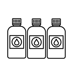 Printer ink bottles icon outline style vector image vector image