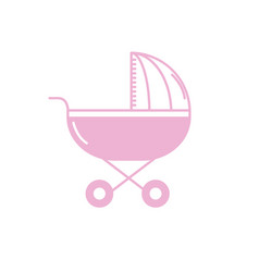 silhouette baby stroller tool to baby relax vector image vector image