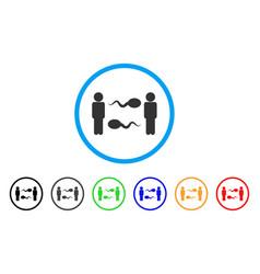 Sperm exchange men rounded icon vector