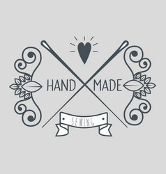 Vintage hand made logotypes and labels vector