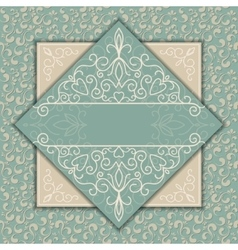 Vintage luxury card or invitation with pattern vector image vector image