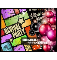 vintage revival party vector image