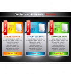 Web elements sale banners vector