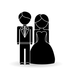 Wedding icon design vector