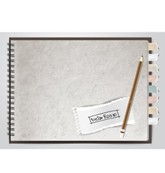 White note book paper vector