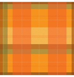 Orange Tartan Plaid Pattern vector image