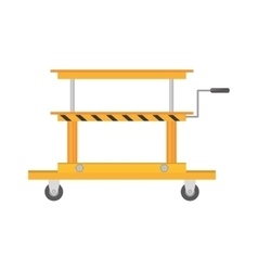 Platform trolley lifting boxes cargo manual vector