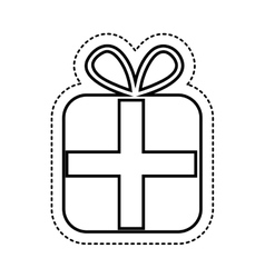 Gift present isolated icon vector