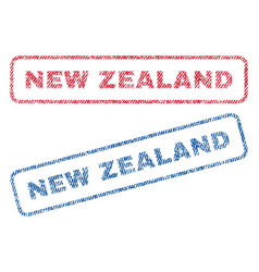 new zealand textile stamps vector image