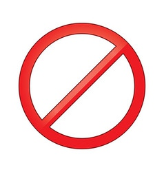 Sign forbidden circle prohibited vector