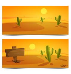 Desert Banners vector image