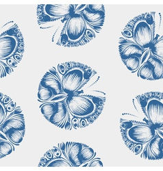 Seamless pattern butterfly vector image