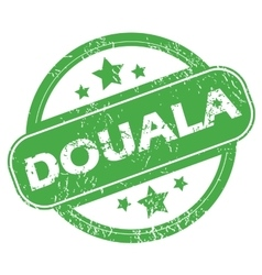 Douala green stamp vector