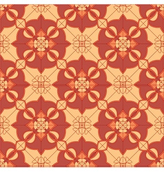 Seamless geometric floral pattern vector