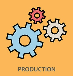 Production gears vector