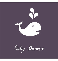 baby shower whale vector image