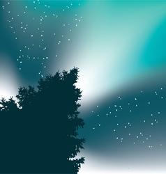 Christmas Tree Stars Blue vector image