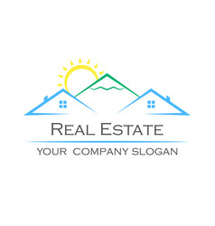Creative logo real estate icon vector