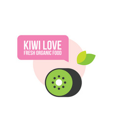 Cute organic fresh kiwi food background vector