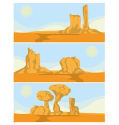 Desert rock mountains vector