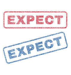 Expect textile stamps vector