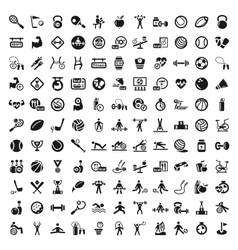 fitness and diet icons vector image vector image