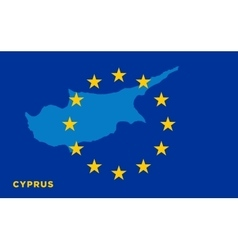 Flag of European Union with Cyprus on background vector image vector image
