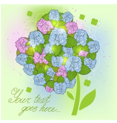 Floral decorative background with hydrangea EPS10 vector image