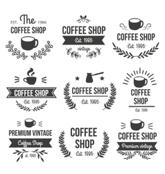 Hand drawn coffee label set vector