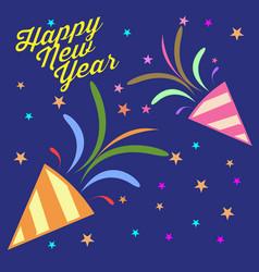Happy new year confetti vector