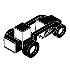 Heavy load truck icon simple style vector